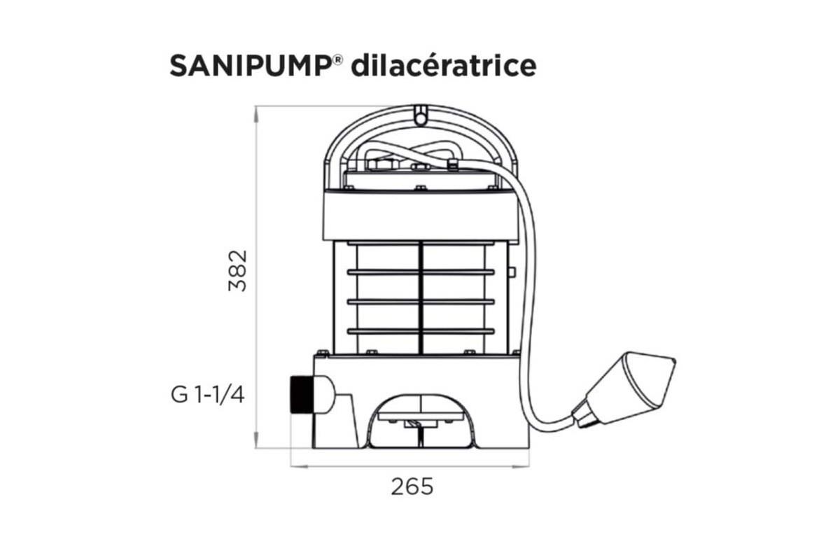 Погружной насос измельчитель SFA Sanipump